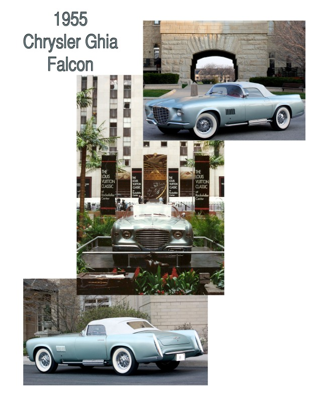 1955 Chrysler Ghia Falcon concept car